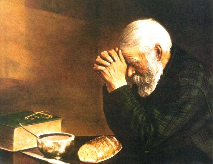 노인과 식탁의 기도.jpg